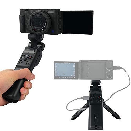 JJC Wired Remote Shooting Grip Mini Tripod for Sony RX100 Mark II III IV V VA VI VII ZV-1 A6500 A6400 A6300 A6100 A6000 A5100 HDR-CX405 CX440 CX675 FDR-AX53 AX43 AX33 AX100 & More Sony Camera Handycam
