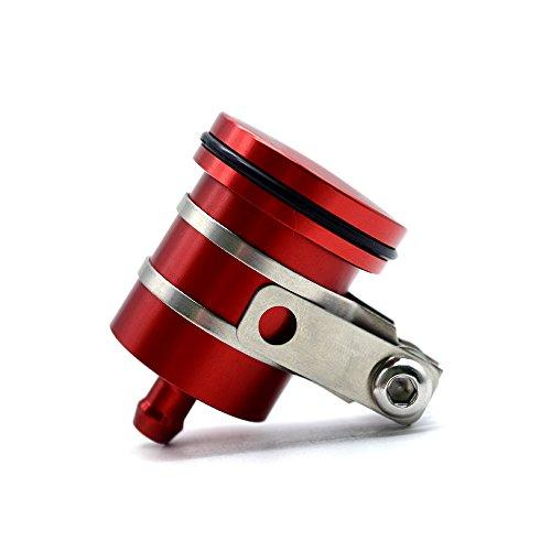 Universal Bremsflüssigkeitsbehälter Öl Tasse für Kawasaki Z1000SX Z1000 Z900 Z800 Z750 Z750R Z650 Z300 Z200 Yamaha MT-01 MT-03 MT-07 MT-09 MT-09 MT-09 MT-10 MT-125 S1000R S1000RR S1000XR (Rot)