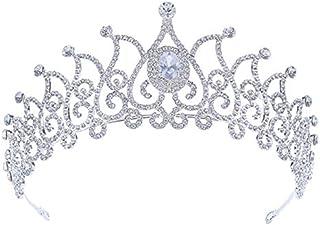 LUCKYYY Accessori per Abiti da Sposa con Corona di zirconi e Corona di zirconi