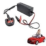 MASO, adattatore caricabatterie DC 12 V 1000 mA per batterie al piombo sigillate per auto e bici giocattolo elettriche per bambini (spina UK)