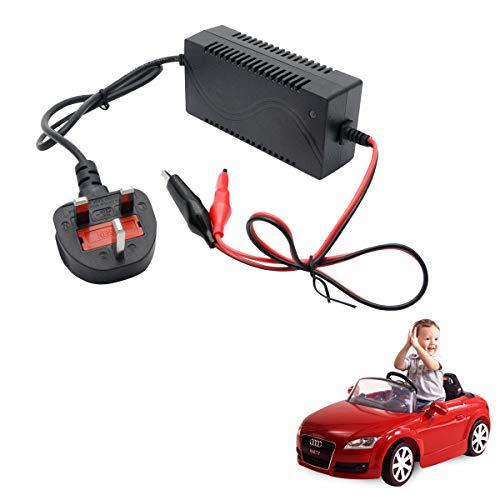 MASO Kfz-Ladegerät, elektrisch, 12 V, 1000 mA, Universal-Ladegerät für Kinder, elektrisches Spielzeug/Auto / Fahrrad (UK-Stecker)