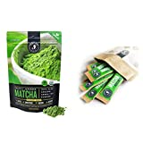 Jade Leaf Matcha + Stick Packs Bundle - Organic Matcha Green Tea Powder Culinary Pouch (100g) and Ceremonial Stick Packs (10ct)