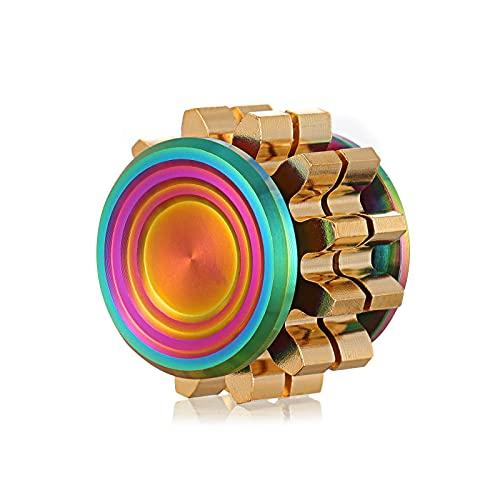 Gatwey Fidget Spinner Mini Fidget Spinner Solid Metal Brass Gear Fidget Spinner Sensory Fidget Toys...