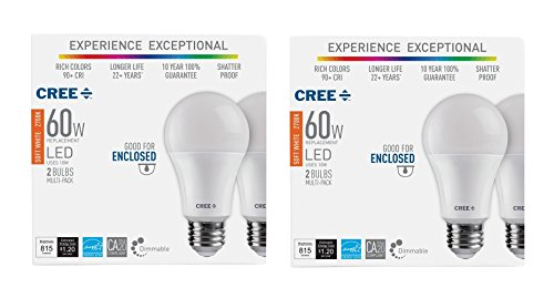 Cree Led 60W Replacement A19 Soft White (2700K) Dimmable Light Bulb (4-Pack)