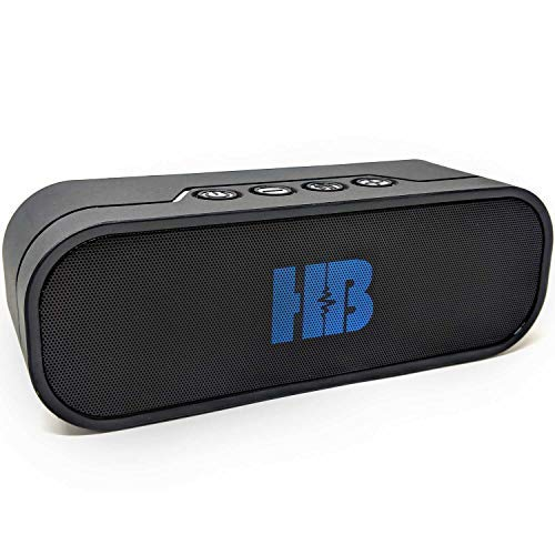 Bluetooth Speaker Power Bank - HB Beast Powerful 20W Water Resistant Bluetooth Portable Shower Speaker with Power Bank. Multiple Connections, Bluetooth, Micro SD Card Slot, USB Charging and Aux Cable