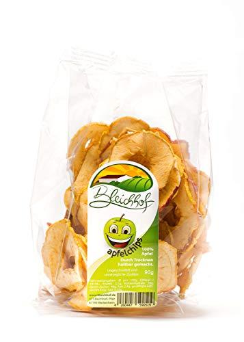 Bleichhof Apfelchips Classic, vegane Trockenfrüchte, 10er Pack (10x 90g)