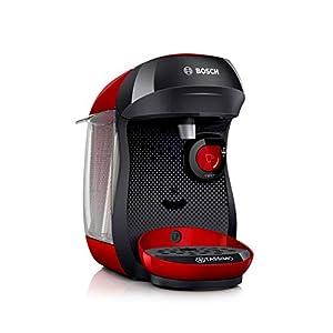 Bosch TAS1003 TASSIMO Happy Cafetera de cápsulas, 1400 W, color rojo y negro