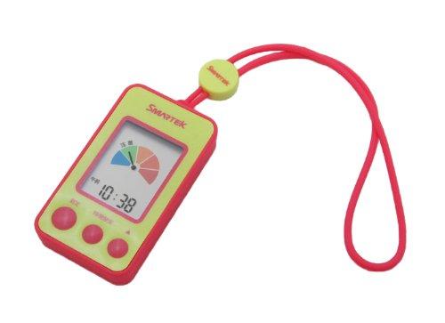 SMARTEK(スマーテック) 携帯型熱中症指数計 アラーム警告機能 ストラップ付き マットピンク MH-001-PK
