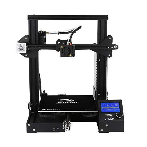 3D Printer Kit Ender-3 V-slot Prusa Assembled DIY Set(220 * 220 * 250mm) Works with PLA, TPU, Copper, Wood With Excellent Print Quality