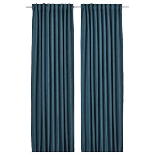 My- Stylo Collection - Cortinas para oscurecer habitación, 1 par, color azul, tamaño del producto: longitud: 250 cm, ancho: 145 cm, peso: 3,36 kg, área: 3,63 m2. Cantidad: 2 unidades