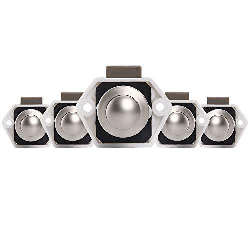 Oceanheart 5 botones Cierre de botón para armarios sin llaves cajones de caravana barco escritorios para armarios de vehículos de caravana (Blanco)