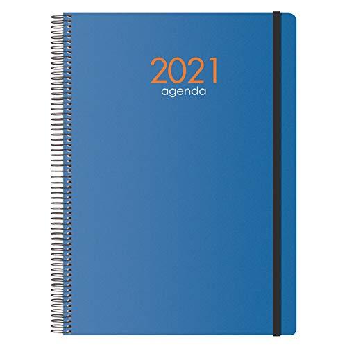 DOHE 11625 - Agenda Syncro día página, color azul, 21 x 29 cm