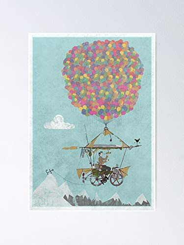 AZSTEEL Riding A Bicycle Through The Mountains Poster Poster 11.7 * 16.5
