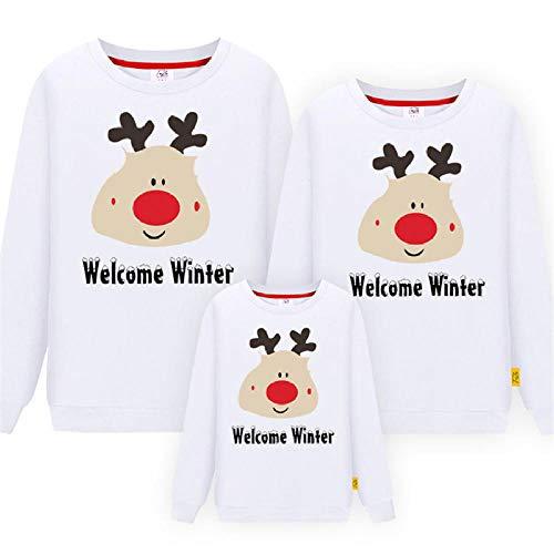 Jersey Navidad Niño,Navidad Family Look Deer Mommy and Me Ropa a Juego Conjuntos de Ropa Familiar Otoño Madre Hija Padre Camiseta de bebé-H_1ps Mujeres M