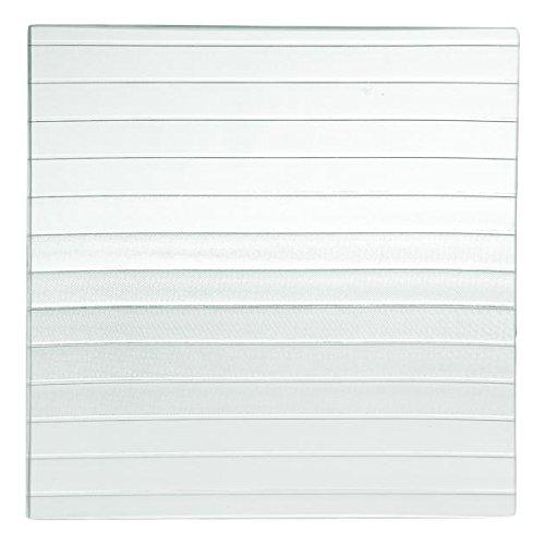 H&H Assiette Plate carrée, 30 x 30 cm, Verre, Transparent/Vert, 30x30x1 cm