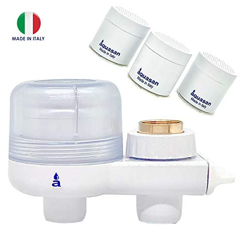 Aquasan Aquacompact + 3 Cartucce Ricambio Filtro Rubinetto Depuratore Microfiltrazione Filtraggio Acqua...