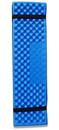 BeryKoKo レジャーシート 収納袋付 超厚手 190×57 折り畳み クッション 防水 超軽量 断熱 ロングサイズ 選べる4色