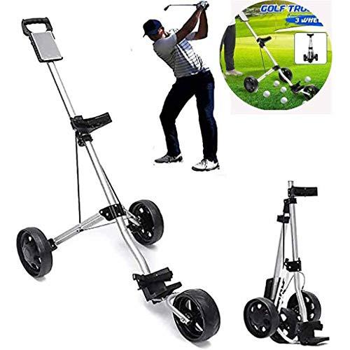 Golfwagen Golf Trolley 3 Räder,Aluminium Golf Trolley Golfwagen Klappbar Mit Scorecard Für Outdoor-Reisesport Professional Golf Cart