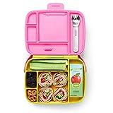 Munchkin Bento Box Brotdose für Kleinkinder mit Besteck, gelb/Grün