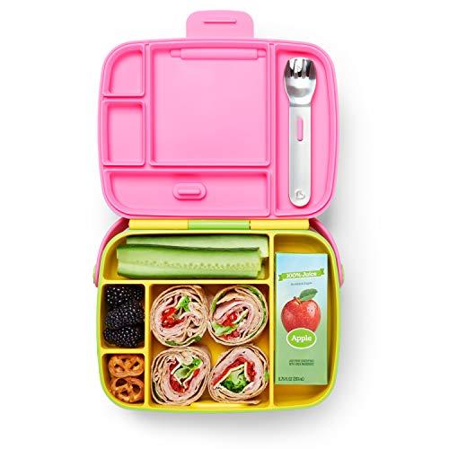 Munchkin 012531 - Bento Box - Fiambrera con Cubiertos para Niños, Amarillo/ Verde, Unisex