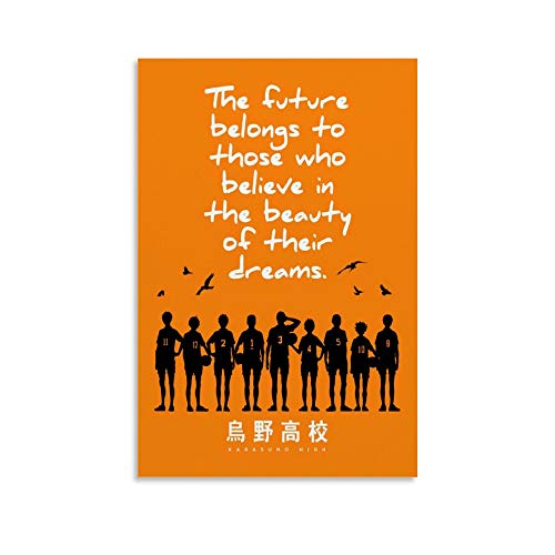 Haikyuu Anime Inspirational Quotes Poster Decorative Painting Canvas