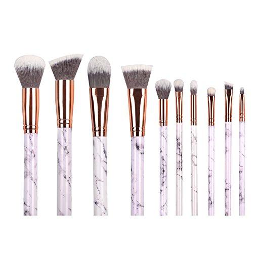 Ensemble de 10 pinceaux de maquillage Xfresca - Type professionnel