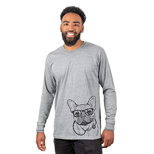 Inkopious Medical Chew Chew The French Bulldog Dog Unisex Long Sleeve T-Shirt 2XL Grey