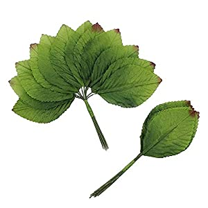 Silk Leaf Green Artificial Leaves Flower DIY Home Decorative Christmas Party Decoration Bouquet Wreaths Wedding Decor 120pcs