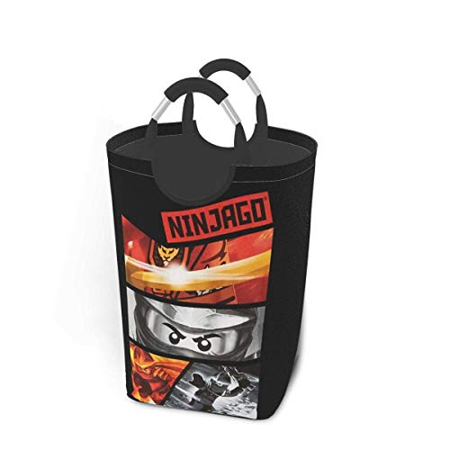 songyang Ninjago Large Folle Laundry Basket, Waterproof Laundry Basket, Dirty Laundry Basket, Used to Store Dirty Clothes.-Bla-OneSize