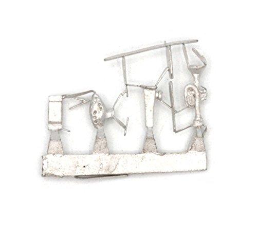 Stonehaven Trompete, Kazoo, Okarina, und Mundharmonika Zubehör Miniatur Figur für 28mm Tischplatte Kriegsspiel–Made in USA