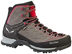 Salewa MS Mountain Trainer Mid Gore-TEX Trekking- & Wanderstiefel, Grau (Charcoal/Papavero 4720), 42 EU