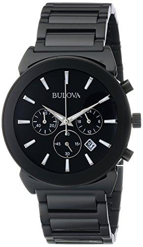 Bulova Relógio Masculino 98B215 Analógico Quartzo Japonês Preto