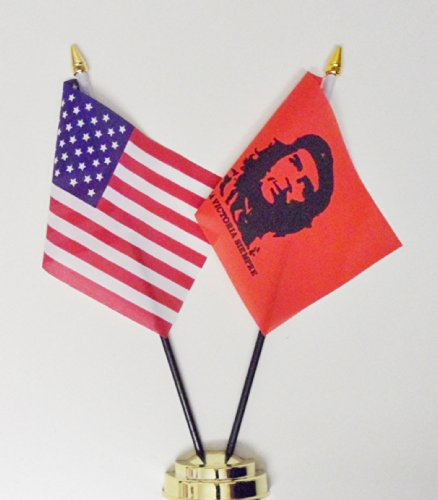 Che Guevara & des États-Unis Drapeau de table Amitié Écran 25 cm (25,4 cm) S