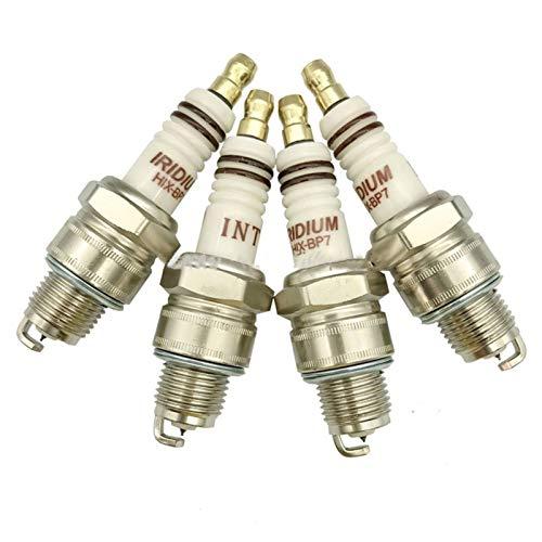 ADFIOSDO 4pcs / Lot INT Iridium Fuera de borda del yate Bujía HIX-BP7 / Ajuste for W7BC L78YC IWF22 W22FPU10 BP7HIX BPR7HIX BP7HS B7HS-10 BR7HS B6HS (Color : Metallic)