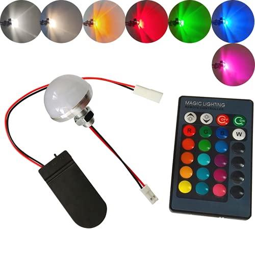 malyituk Botón de control remoto colorido LED luz electrónica paisaje decoración de la boda luz fiesta botón luces de batería para cosplay casco DIY luz con control remoto