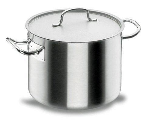 Marmite base 40 litres Ø 40 cm x Haut 32 cm Inox 18/10 avec couvercle