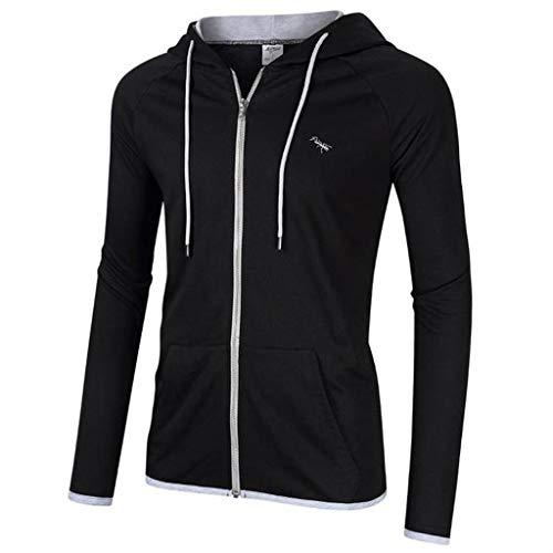 manadlian Homme Sweat à Capuche Automne 2019 Sweat-Shirt à Capuche Veste Manches Longues Slim Patchwork Pullover Idéal pour Sport T Shirt