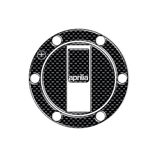 Adesivo-Sticker in resina 3D colore crbonio protezione Tappo Serbatoio per moto compatibile con...