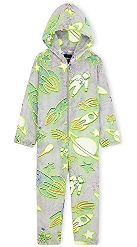 CityComfort Combinaison Pyjama Enfant Grenouillere Polaire Pyjama Garcon Espace Galaxie Surpyjama Enfant & Ado 7-14 Ans (Gris, 7-8 Ans)