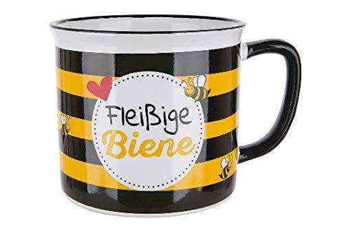GILDE - 46900 - Kaffeebecher, Fleißige Biene, Keramik, 9,5cm x 8,5cm