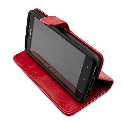 caseroxx Handy Hülle Tasche kompatibel mit Emporia SMART.2 Bookstyle-Hülle Wallet Hülle in rot