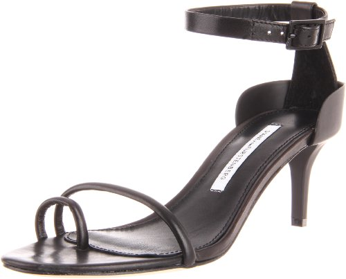 Diane von Furstenberg Women's Baina Sandal,Black Calf,9.5 M US