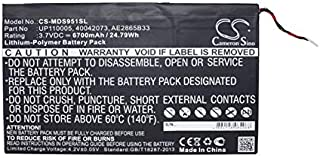 XPS Replacement Battery Compatible with Medion LifeTab P9516, Lifetab S9512, MD99200 PN 40042073, AE2865B33, UP110005