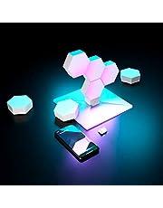 مصباح كولولايت من لايف سمارت يمكن تركيبه يدويًا من 7 قطع مع قاعدة ذكية وميزة هوم تك واليكسا وسيري مدعوم بضوء ليد و واي فاي