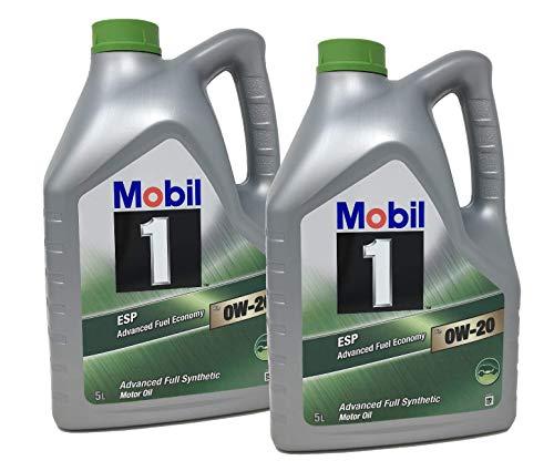 Mobil Öl für Motor 1 ESP x2 0W-20 Advanced Kraftstoffverbrauch, Pack 10 LTS