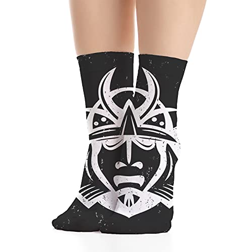 Women's socks,Traditional Ancient Martial Equipment East Medieval Ancient Mythology Pattern,Made in America