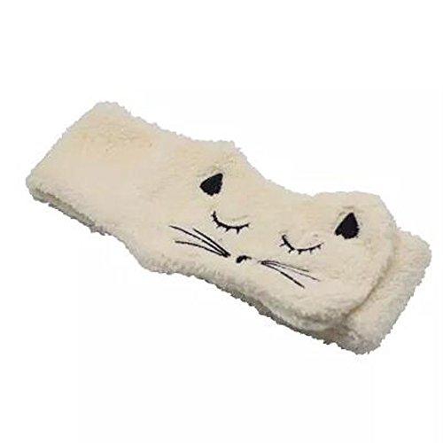 Lovely Cat Wide Side Hair Accessoire Headband Handcraft Hair Band, Beige