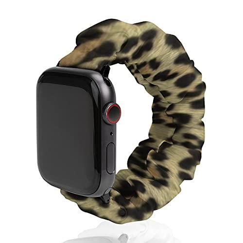 Correa de repuesto para hombre y mujer, compatible con Apple Watch de 42 mm/44 mm, suave y elástica para iWatch Series SE 6/5/4/3/2/1, pintado Mega Leopard