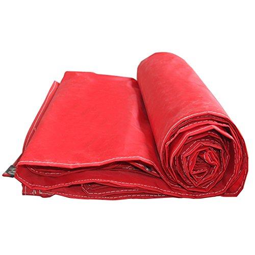 HAIPENG Épaissir Imperméable Bâche Couvertures De Sol Tente Abri Oxford Chiffon À Toute Épreuve Renforcé De Plein Air, Rouge, Multi Tailles, 210G/M² (Couleur : Rouge, taille : 6x12m)