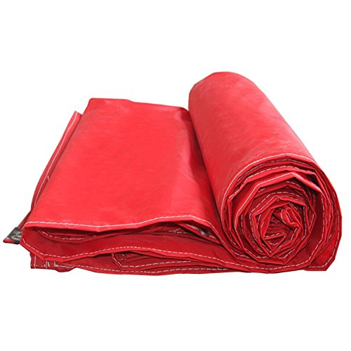 MKJYDM Plane Schuppen Oxford Tuch Leinwand Wasserdichtes Tuch Wasserdicht Sonnenschutzplane Plane Plane Gepolstert Sonnenschutz Regen Tuch Plane (Color : Red, Size : 3x5m)